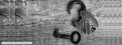 Photo Couverture facebook clef noir et blanc