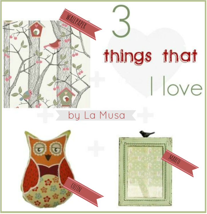 3 things that I Love, La Musa Decoración, Decoración, Inspire, Wallpaper, Cushion, Cojín, Marco, Frame