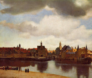 Vermeer painting View of Delft