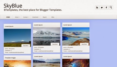 SkyBlue - Free Blogger Template
