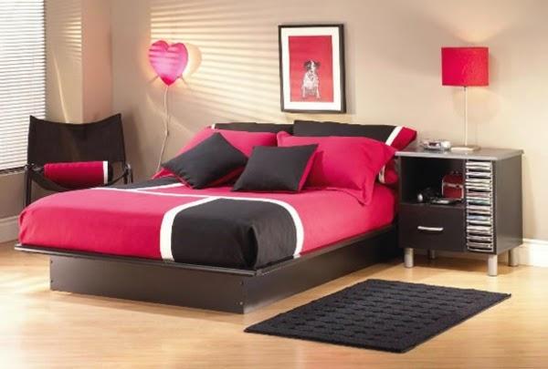 10 Dormitorios juveniles en rosa y negro - Dormitorios ...
