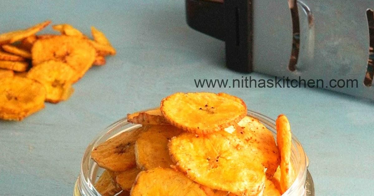 how to make raw banana chips at home
