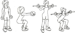 Correct squat exercise to lose weight