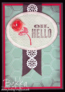 Oh Hello Card by Stampin' Up! Demonstrator Bekka Prideaux - sent to people who joined her Team  - find out more