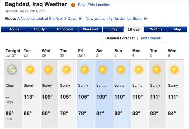 The 10 Day Weather Forecast For Las Vegas Nv