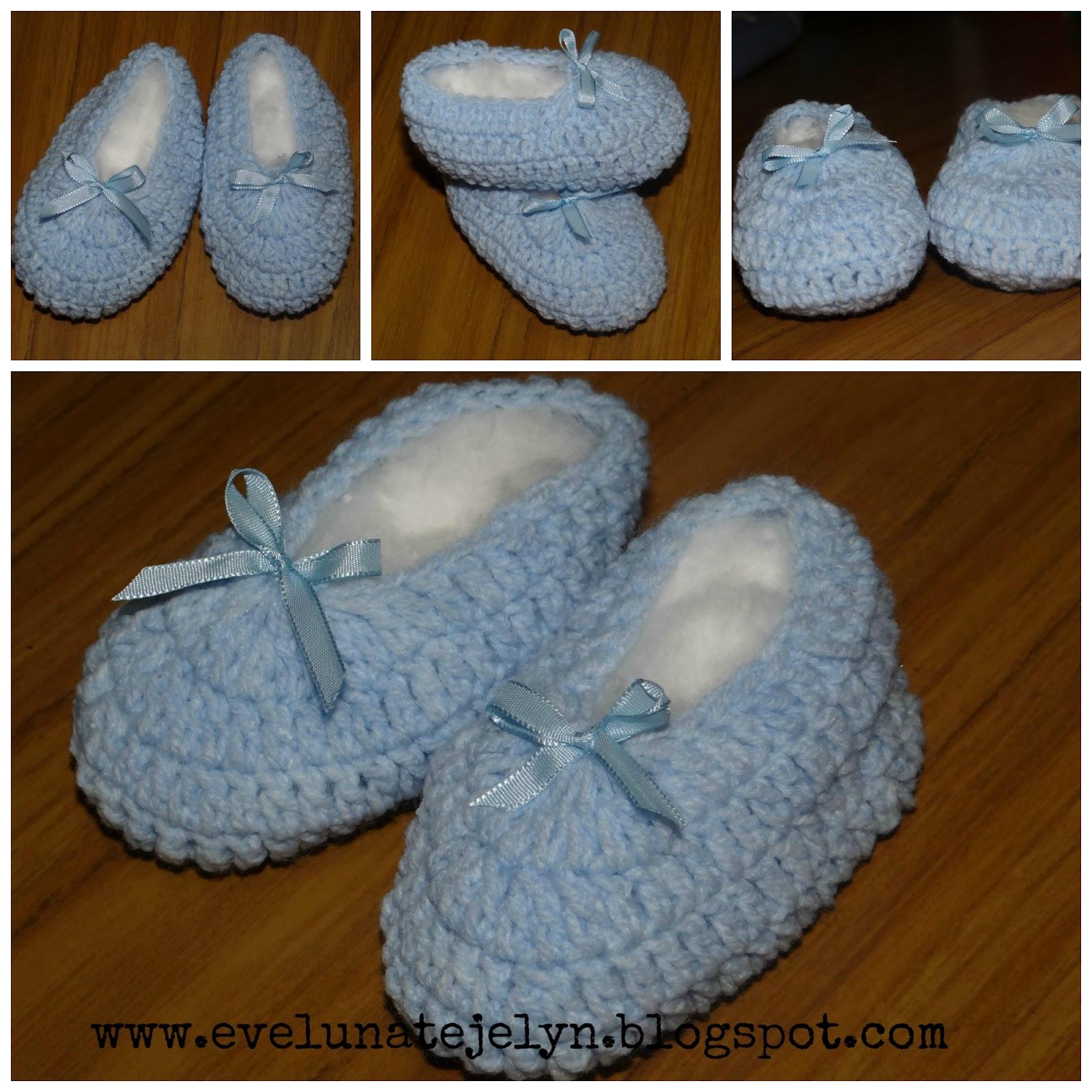 tejequeteteje: Escarpines sencillos tejidos a crochet