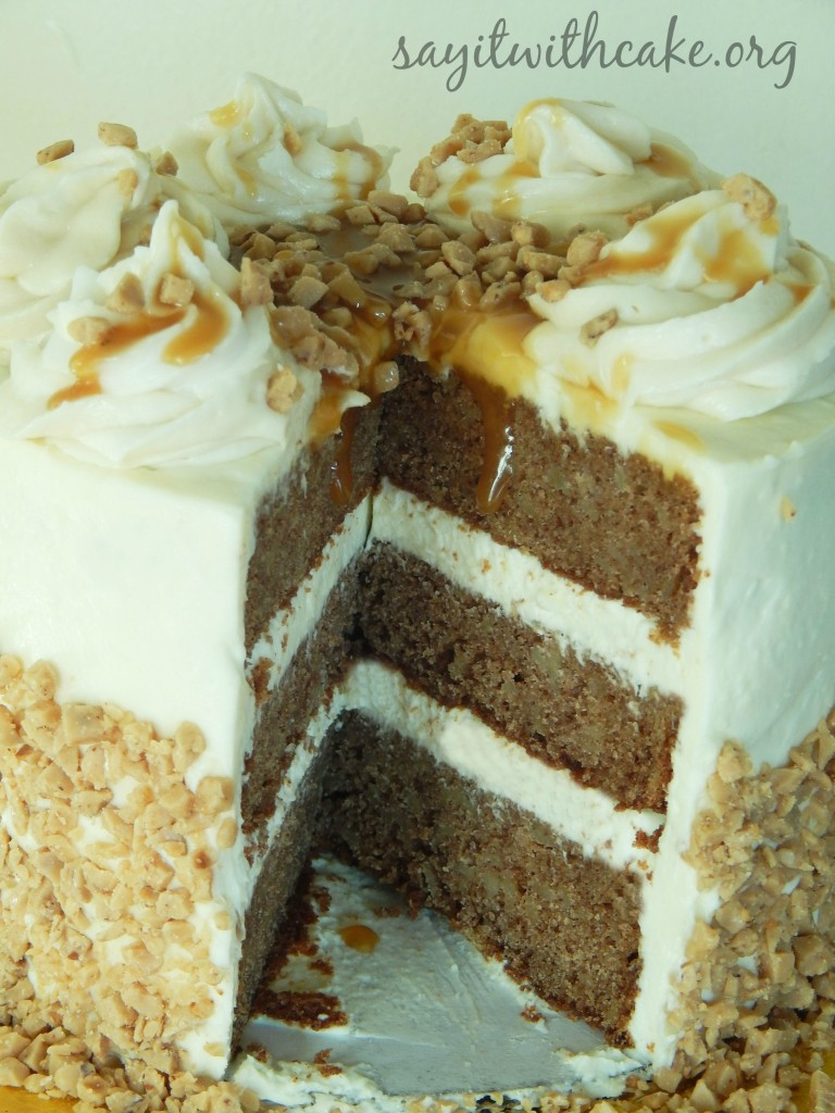 ... Apple Spice Toffee Cake with Cream Cheese Frosting . Who needs dinner