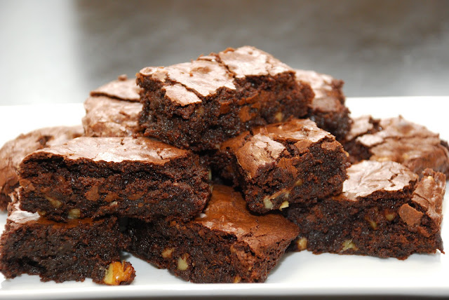 Tomatoes on the Vine: Cocoa brownies with Browned Butter and Walnuts