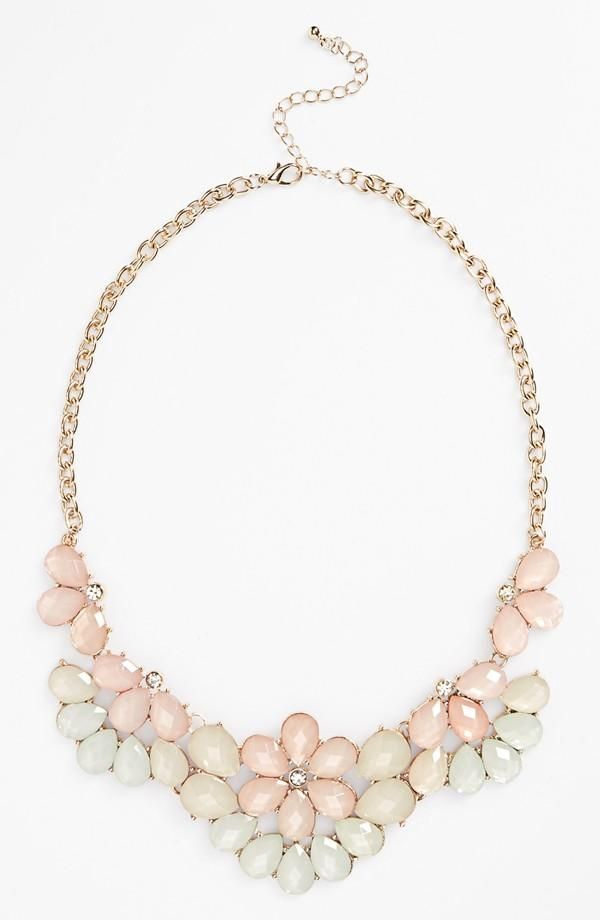 Teardrop Floral Statement Necklace