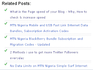 Blogger Related Post widget
