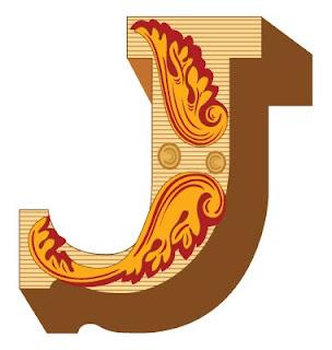 3D Graffiti Alphabet Letter J