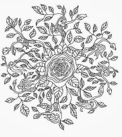 Rose+Elf+Mandala+Woloring+Pages+Worksheet. title=