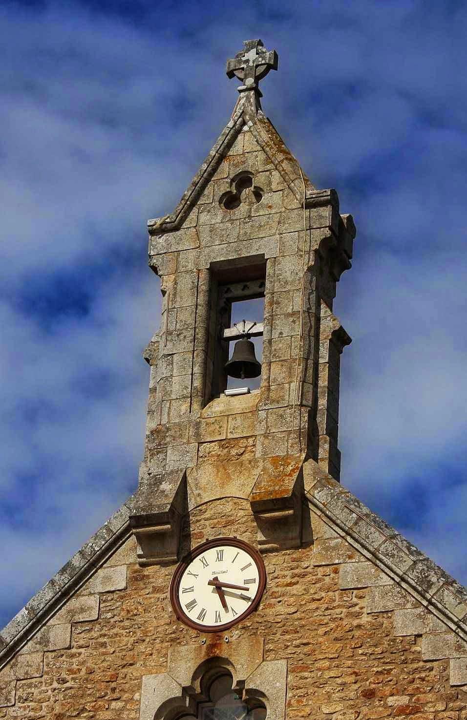 Campanário da capela de Santa Ana, La Baule, França