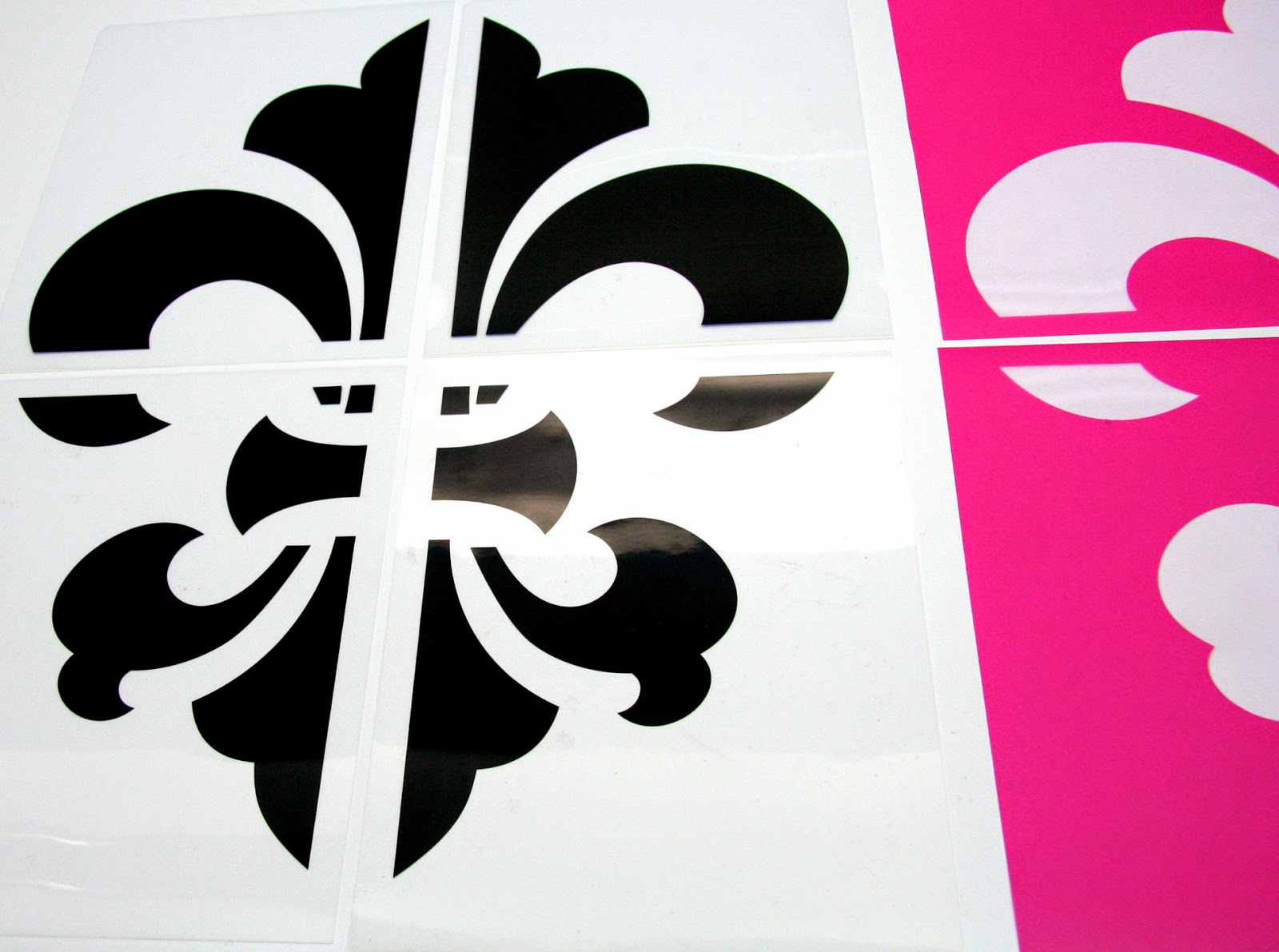Fleur De Lis Transparency and StencilPro Stencils are Ready for Printing