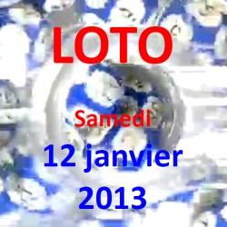 Résultat du LOTO - tirage du samedi 12 janvier 2013