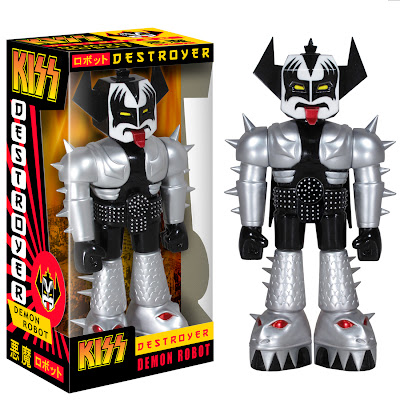 "Kiss Gene ""The Demon"" Simmons 11"" Vinyl Invaders Robot and Packaging by Funko"