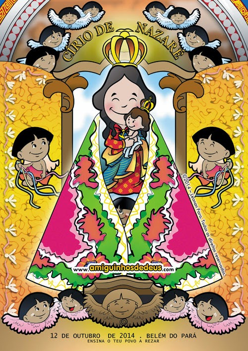 cartaz do círio de nazaré 2014 desenho