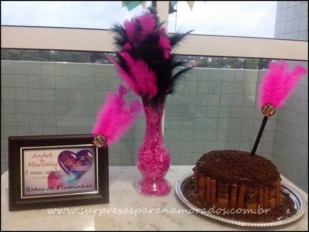 decoração bodas de pluminhas