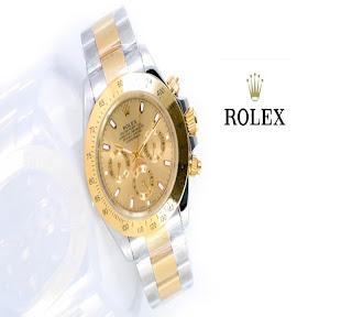 jam tangan keren ROLEX DAYTONA SILVER GOLD