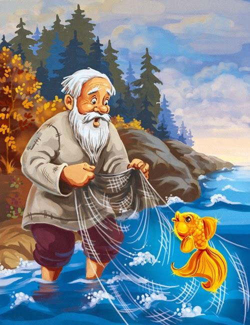 пушкин рыбак и рыбкам картинки
