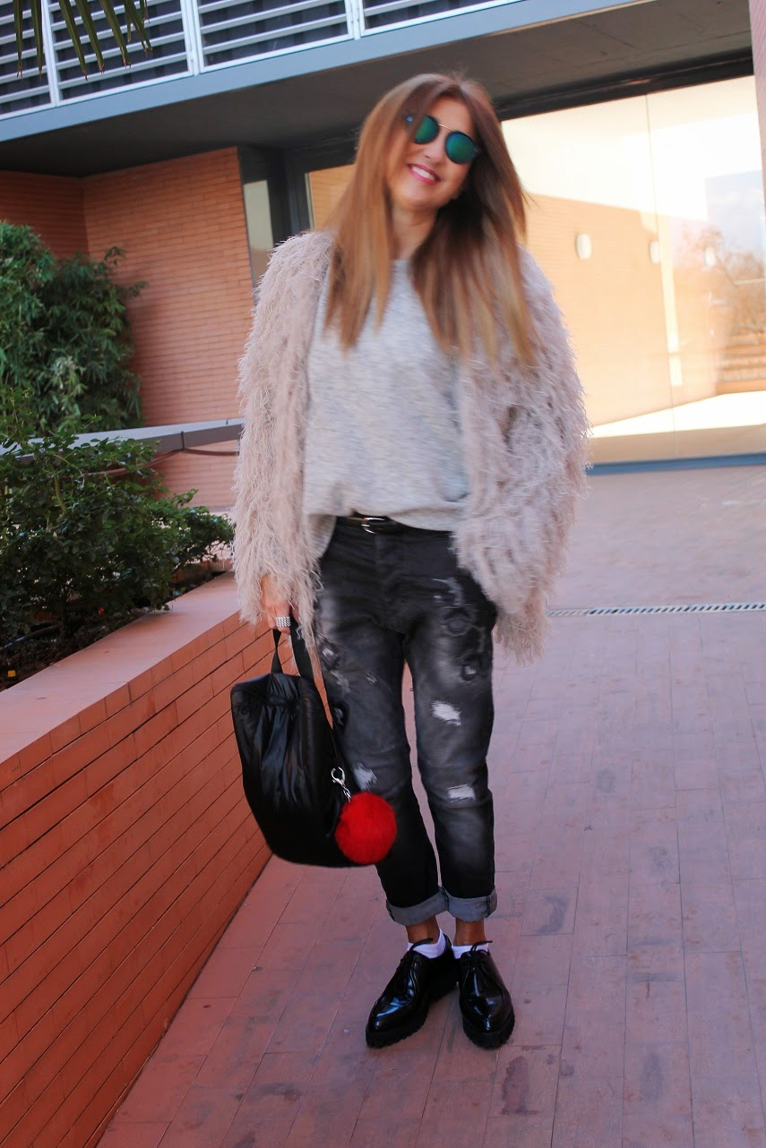 Gris, Grey, eseOese, Look, fashion, coat, Inspiración, cool, grils, blogger, Blog de moda Madrid,  street style