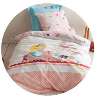 draps de lit Alice au Pays des Merveilles