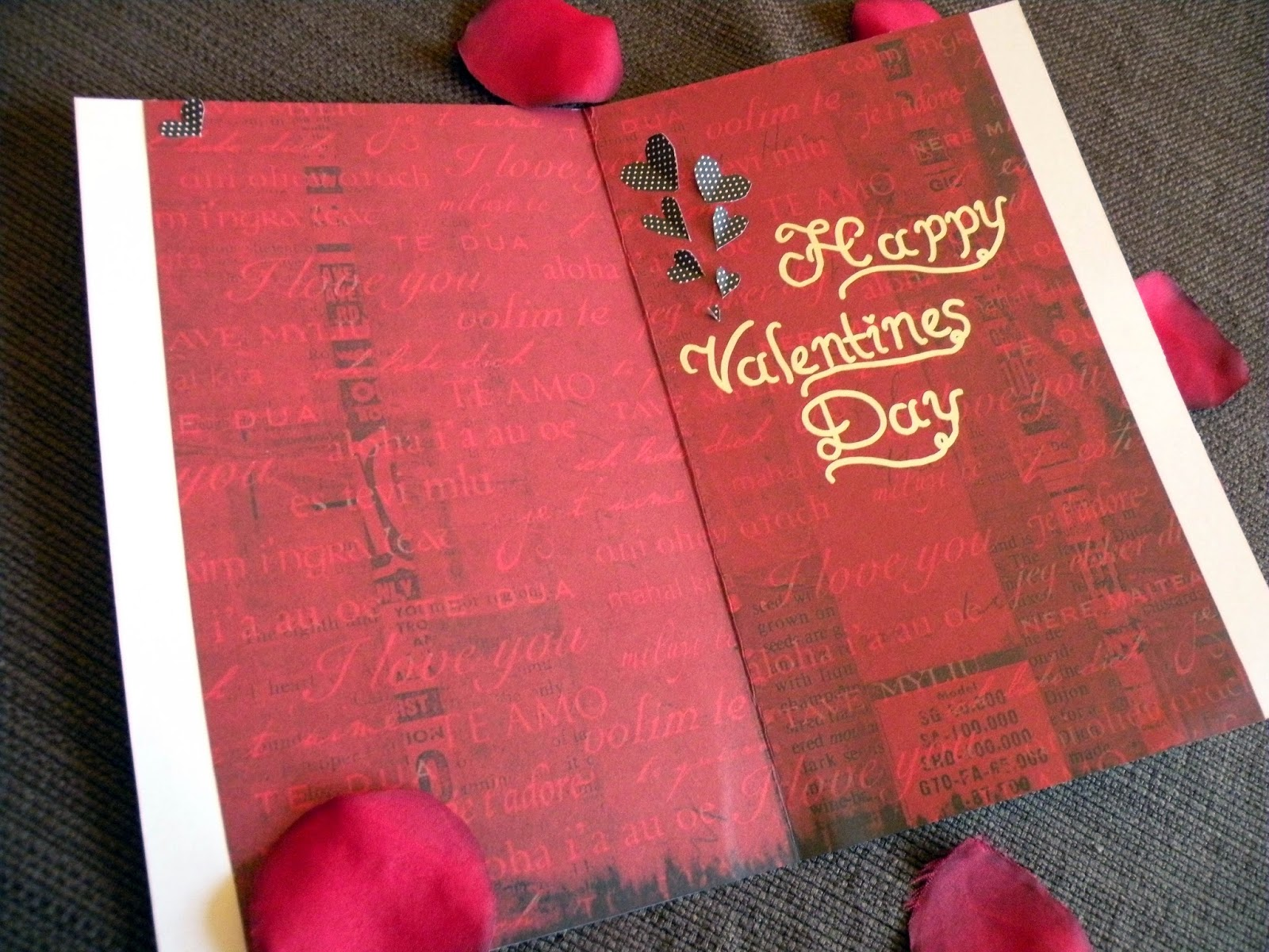 DIY handmade Valentine's Day Card