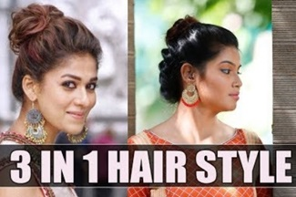 Nayanthara inspired hairstyle | Say Swag