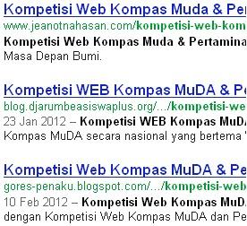 kompetisi web kompas muda dan pertamina