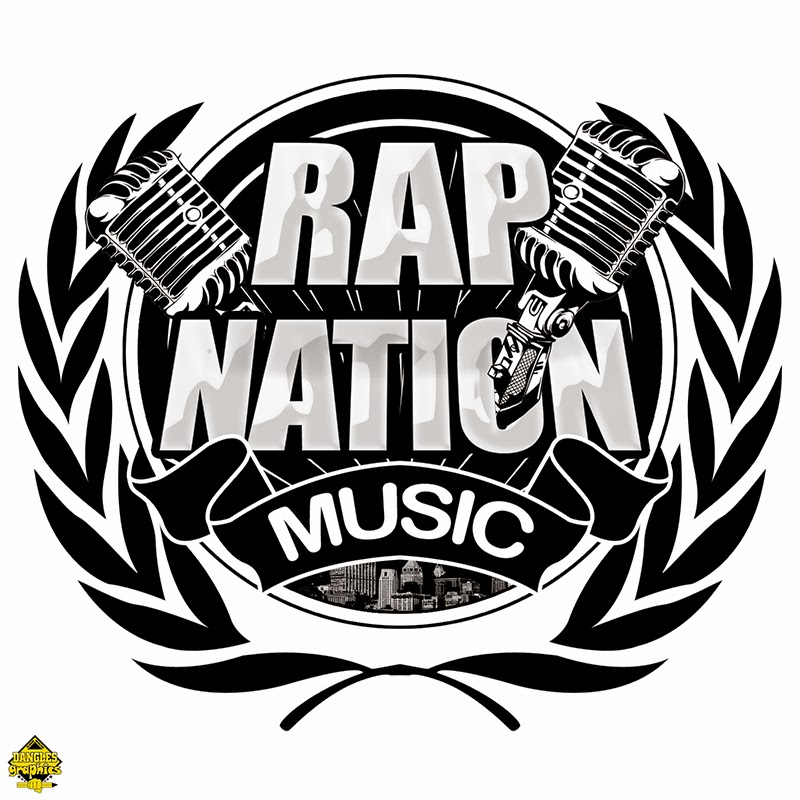 rap nation musiclogo created and designed by dangles