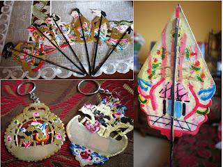 souvenir, unik, menarik, batik, wayang, kipas, towel, handuk