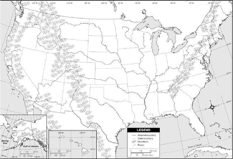 Us Map With Landforms Labeled Map Usa Map Images