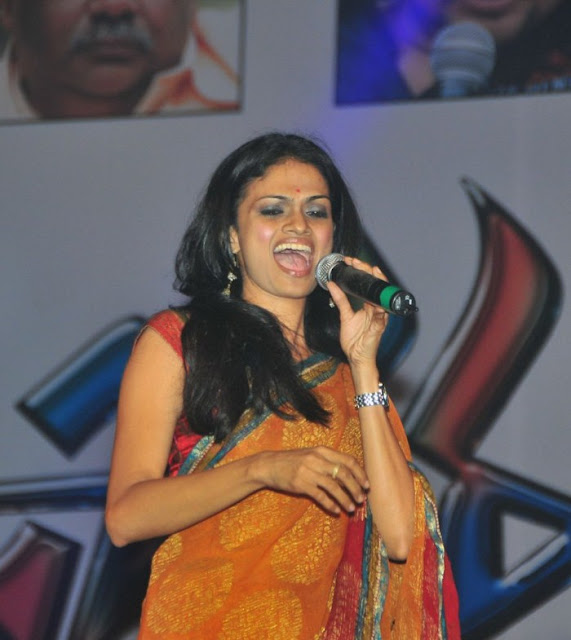 Singer Suchitra Latest Stills in Oosaravelli Movie Audio Launch wallpapers