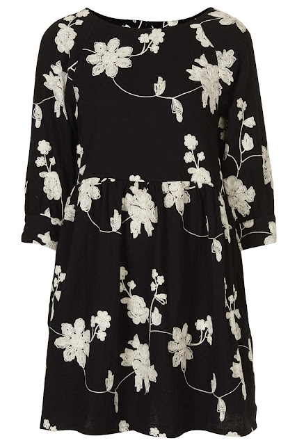 embroidered dress topshop