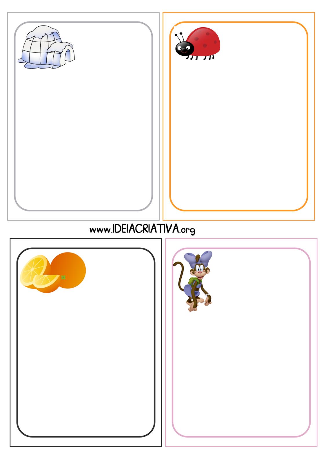 Flash Cards Figuras e Letras do Alfabeto