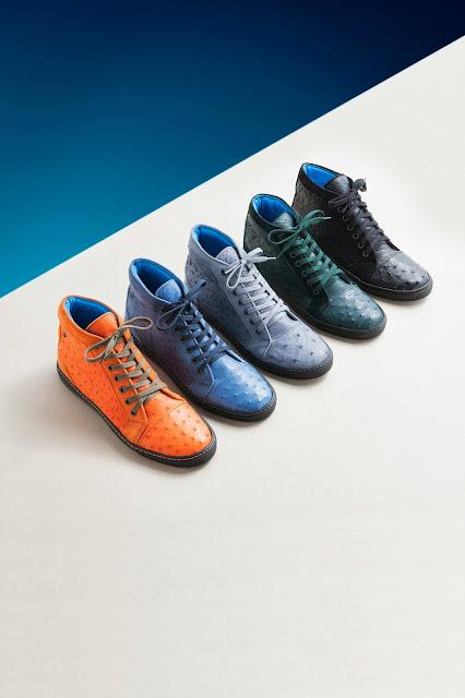 Dorraj luxury footwear ostrich skin sneakers