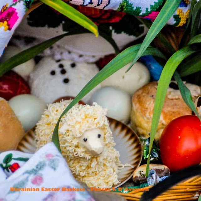 Ram Made Out of Butter in an Easter Basket in Goroshova, Western Ukraine