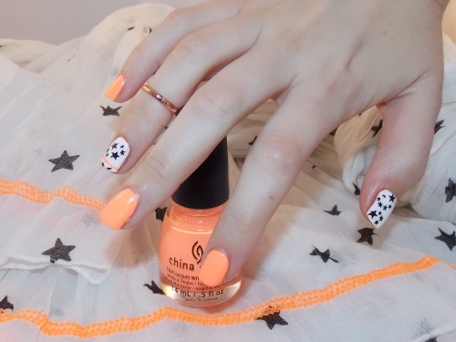 Beauté blog blogueuse psychosexy tendance summer 2013 vernis nail art china glaze sun of a peach nailstorming 3