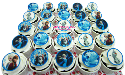 Birthday Cupcake Edible Image Disney Frozen