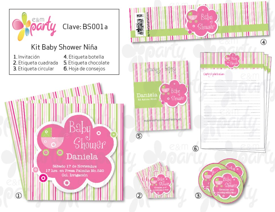 e m party kits imprimibles baby shower. Black Bedroom Furniture Sets. Home Design Ideas