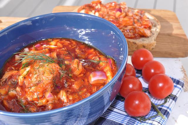 Hjemmelaget makrell i tomat