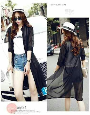 Blazer/Outer/Cardigan Sleeve Zara Black - 10439
