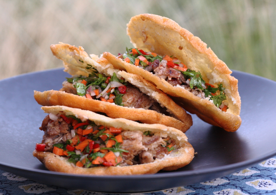 The Quest for Chefhood: Venezuelan style arepas with pork