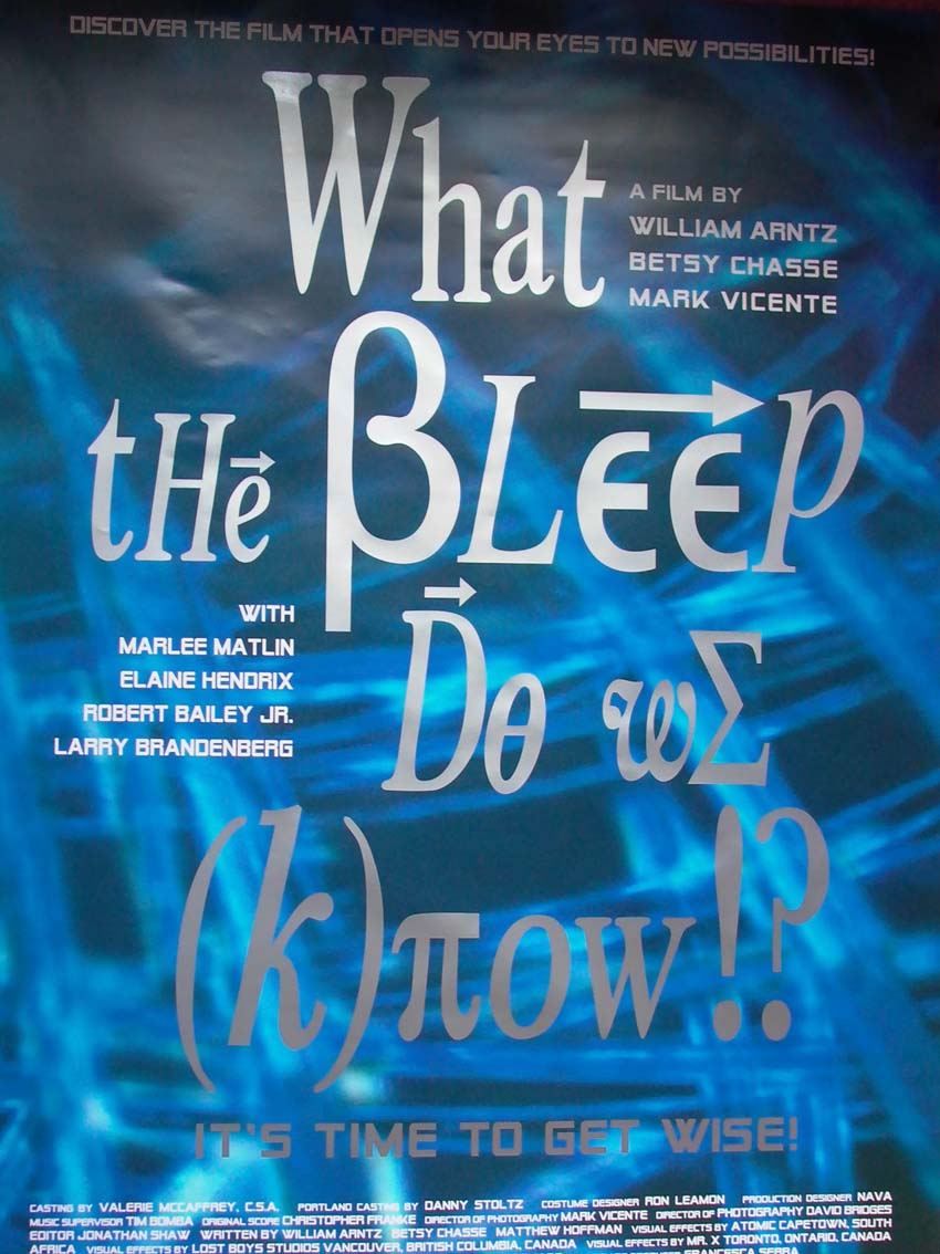what the bleep do we know Written by william arntz, betsy chase, mark vicente, narrated by suzanne toren download and keep this book for free with a 30 day trial.