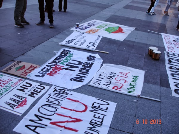 Craiova - protest anti-cianuri