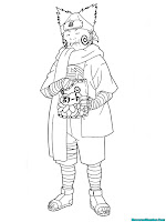 Mewarnai Gambar Choji Akimichi Naruto Shippuden