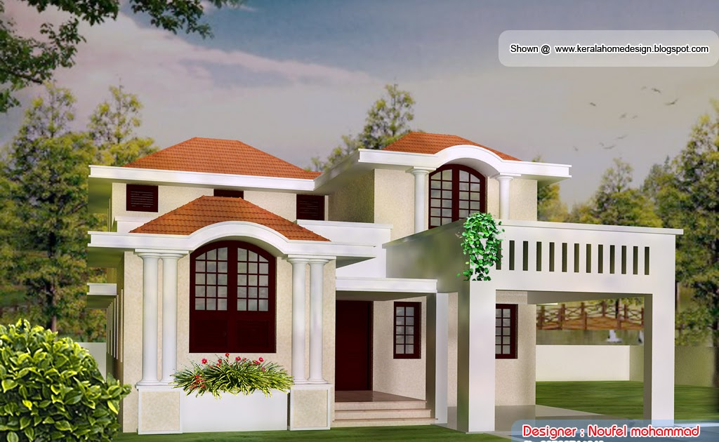 Kerala Home Front Elevation Images : Home plan and elevation sq ft kerala design