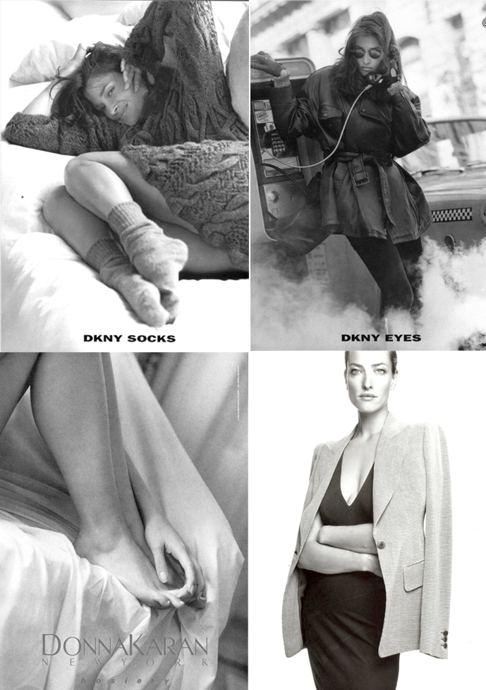 Donna Karan New York ad campaigns for hosiery, socks, eyewear and Signature 1990s