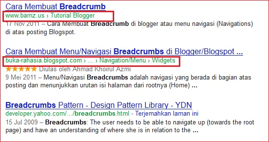 Cara Membuat Navigasi Breadcrumb di blogger