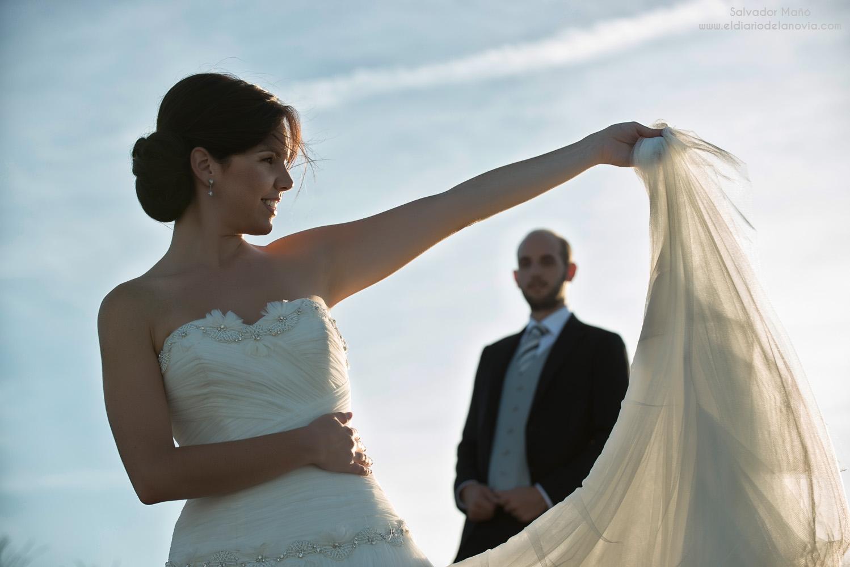 Vestido de novia de plata mn